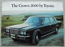 TOYOTA CROWN 2600 Car Sales Brochure c1977? SUPER SALOON & CUSTOM ESTATE