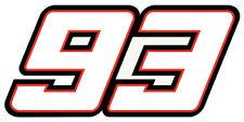 STICKER MARQUEZ MARC #93 AUTOCOLLANT MOTO GP 93 CHAMPION DU MONDE QA005