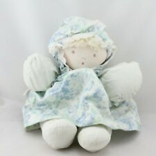 Ancienne poupée chiffon bleu fleurs MOULIN ROTY - Poupée - Lutin Classique