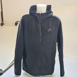 Nike Sweatjacke Full-Zip Hoodie Tech Fleece Schwarz Herren Gr. L