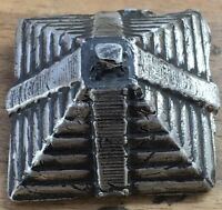 "5 Ozt MK BARZ  ""Pyramid #2"" .999 Fine Silver HAND POURED"
