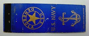 US Navy Ship U.S.S. DENEBOLA Matchbook Cover / Matchbox Cover