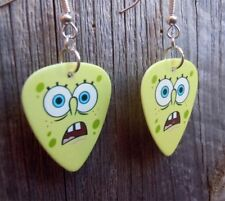 SpongeBob Scared Face Guitar Pick Earrings