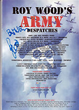 ROY WOOD HAND SIGNED A4 MARCHING INTO THE MILLENNIUM TOUR BROCHURE