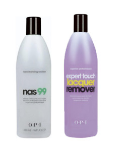 OPI Expert Touch 450ml & OPI Nas 99 450ml ***THE PERFECT GEL NAIL REP SET***