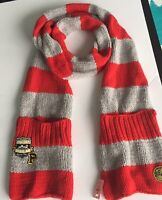 Victoria's Secret Pink Scarf Pockets Red Gray HTF NWT