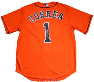 CARLOS CORREA Autographed Houston Astros Orange Jersey TRISTAR