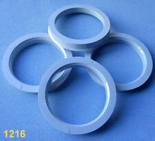 (1216) 4 Stück  Zentrierringe 70,4 / 57,1 mm grau für Alufelgen