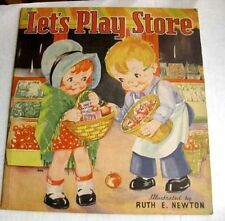 1936 Cloth Childrens Book Lets Play Store Ruth Newman