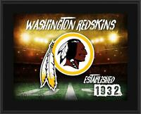 "Washington Redskins 10.5"" x 13"" Horizontal Team Logo Plaque - Fanatics"