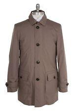 Ermenegildo Zegna Cotton 38US/48EU Outerwear Long Jacket Beaver Brown