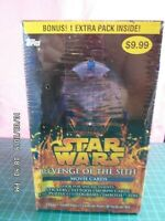 2005 Topps - Star Wars Revenge Of The Sith - 42 Movie Cards Sealed Hobby Box