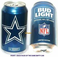 2017 DALLAS COWBOYS BUD LIGHT NFL KICKOFF BEER CAN FOOTBALL SPORT TEXAS MAN CAVE