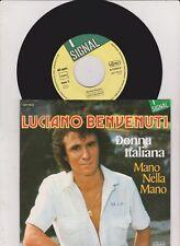 """7 """" LUCIANO BENVENUTI Donna Italiana  ( mint ! )"""