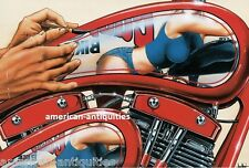 Dave David Mann Biker Art Motorcycle Poster Easyriders Bike Show Pinstriping