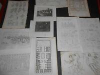 1837 LOTTO 11 INCISIONI POMPEI FAUNO MOSAICO PITTURE NAPOLI REGNO DUE SICILIE