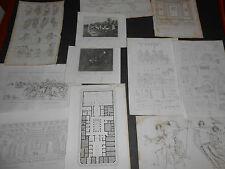 1837 LOTTO 11 INCISIONI POMPEI CASA FAUNO MOSAICO PANSA PITTURE SEPOLCRI NAPOLI
