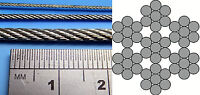 0.5mm, 0.8mm, 1mm, 1.5mm, 2mm, 2.5mm Miniature Steel Rope Cable Model Tanks 5m
