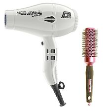 Parlux Advance Light Ionic and Ceramic Hair Dryer White + Free Brush