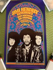 Jimi Hendrix Poster Soft Machine Paupers1968 C.N.E. Coliseum Arena Toronto 1988