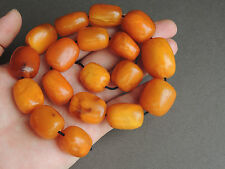 Natural Butterscotch Honey Amber Barrel Beads for Necklace 80 grams