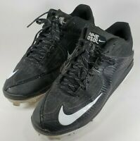 Nike Air MVP Pro Baseball Cleats Metal Black 684685-010 Mens Size 12 GUC