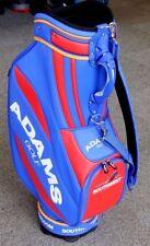 "NEW Adams Golf 9.5"" Staff Cart Bag - 6 Way Divider - Blue Red Yellow - RARE!"