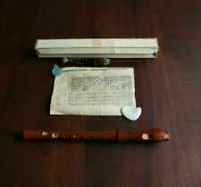 Adler C-soprano Recorder Nr 1711, lovely two-piece wooden in box, brush complete