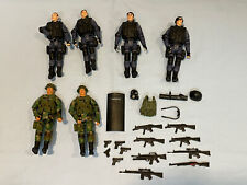 1:18 Intoyz 4 SWAT And 2 Army Action Figure Lot With Guns Shield More