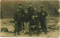 WW1 P.O.W. FRENCH IN GERMANY CAMP MILITARY RPPC ANTIQUE PHOTO POSTCARD