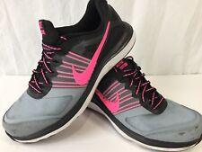 Nike Dual Fusion X Black Athletic Shoes Training Running Gray Pink Womens 8.5
