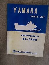 **1970 Yamaha SL338B Snowmobile Illustrated Parts List MORE SNO-MO IN STORE  V