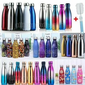 Water Bottle Vacuum Insulated Flask Gym Sport Chilly Cold Cups Stainless Steel