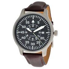 Relojes de pulsera Pilot de cuero resistente al agua