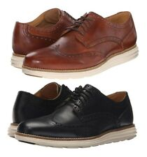 Cole Haan Men's Original Grand Wingtip Leather/Suede Lace Up Oxford Shoes NEW