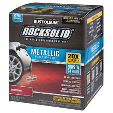 RUSTOLEUM Rust-Oleum RockSolid CHERRY BOMB Red Metallic Floor Coating GARAGE