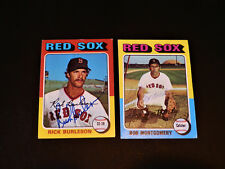 Bob Montgomery 1975 Topps #559 Autograph Red Sox Signed Card Vintage '70s Auto