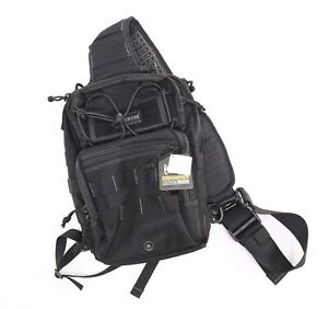 NEW Maxpedition Lunada Gearslinger Pack Black Sling Shoulder Bag MOLLE 0422B