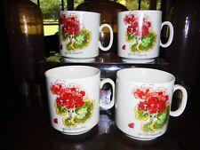 WEIDMANN VINTAGE COLLECTIBLE PORCELAIN COFFEE MUGS-4 MUGS