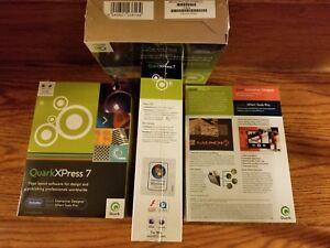 QuarkXPress 7, Windows & Macintosh, Sealed Retail Box, Full Version, PN 123816