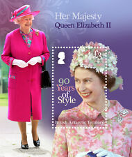British Antarctic 2016 Queens 90th Birthday 1v MS MNH