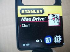 NEW STANLEY 1/2 in Drive 23 mm MAX DRIVE 12 POINT SOCKET