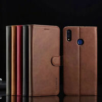 For Huawei Honor 10 Lite 8X 9X Magnetic Flip Stand PU Leather Wallet Case Cover