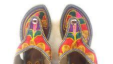 USA 8 Indian Mojari Thong Shoes Handmade Sandal Gladiator Traditional Slipper