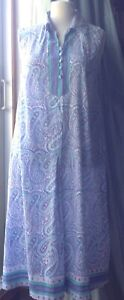 Vintage Penny Plain summer dress Paisley Indian blockprint cotton anokhi style