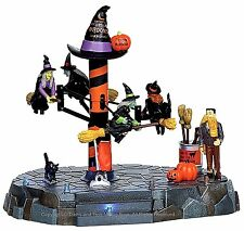Lemax 14326 BROOM DEALERSHIP Spooky Town Table Accent Animated Halloween Decor I