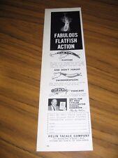 1963 Print Ad Helin Flatfish,Swimmerspoon,Fishcake Fishing Lures Detroit,MI