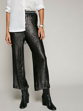 Free People Just a Dreamer Black Sequin Stretch Pants Medium *NEW* $148