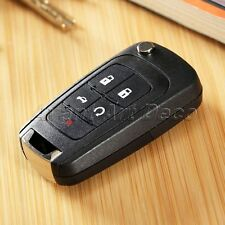 Folding Flip Remote Key Fob Shell Case 5 Buttons for 2010-2013 Chevrolet Equinox