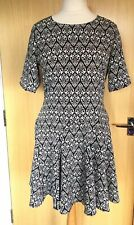 H&M Conscious Collection Dress 16 Tea Smart Office Work Summer Casual 90's